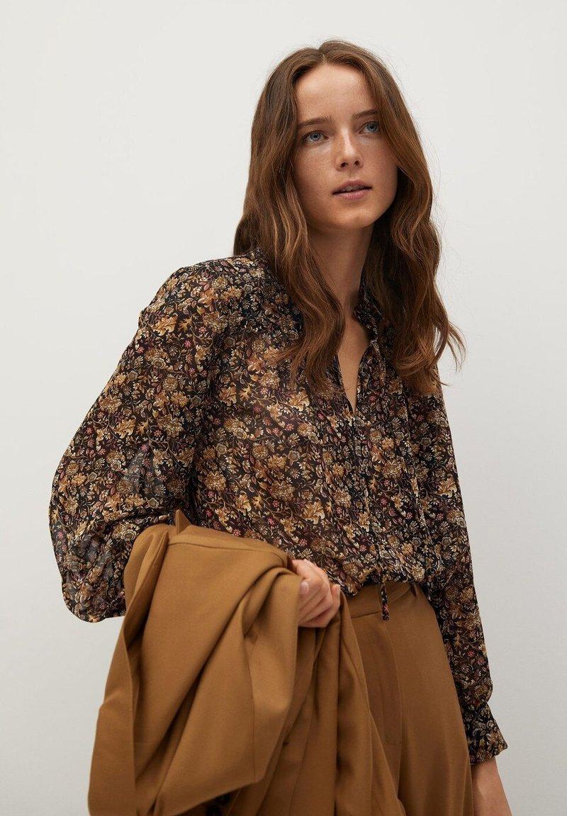 Mango - CHICAGO - Button-down blouse - braun