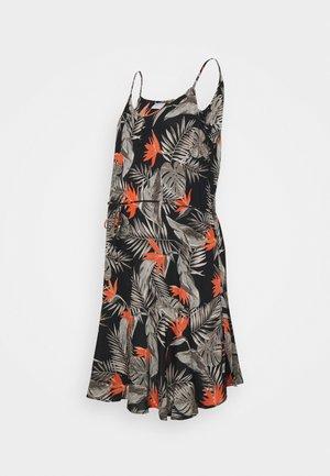 PCMNYA SLIP BUTTON DRESS - Denní šaty - black