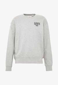 RELAXED GRAPHIC CREWNECK - Sweatshirt - mottled grey