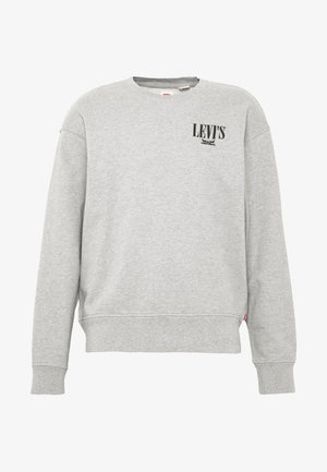 RELAXED GRAPHIC CREWNECK - Mikina - mottled grey