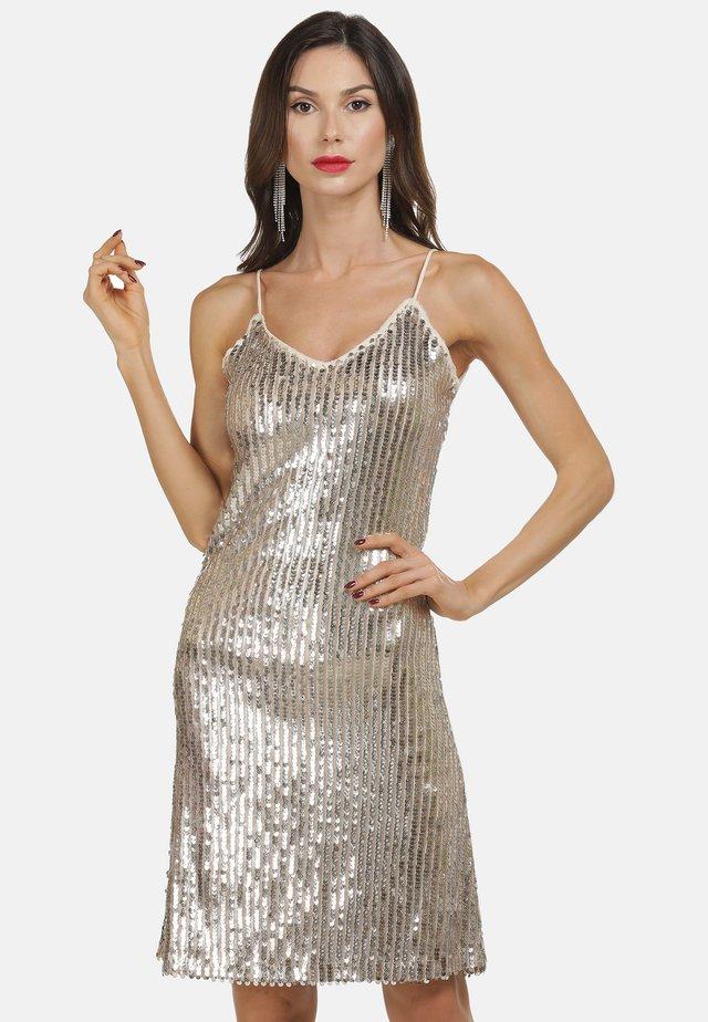 Sukienka koktajlowa - champagner