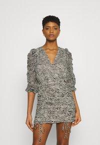 Gina Tricot - MICHELLE DRESS - Cocktail dress / Party dress - white spot - 0