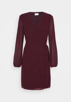 VIWINNIE TIE WRAP DRESS - Korte jurk - winetasting