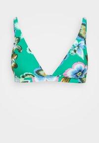 SKINNY PLUNGE - Bikini top - emerald