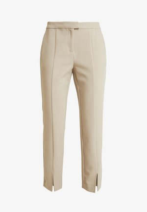 FORMAL TROUSERS WITH FRONT VENTS - Bukser - beige