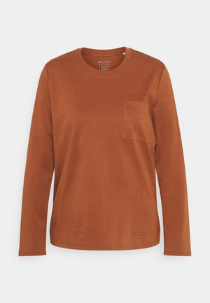 LONG SLEEVE ROUND NECK - Pitkähihainen paita - toffee brown