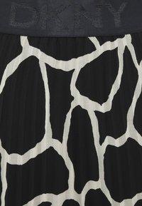 DKNY - PRINTED PLEATED SKIRT WAIST BAND - A-line skirt - black/french vanilla - 2