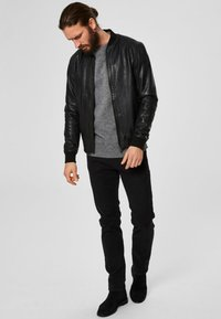 Selected Homme - SELECTED HOMME - Leather jacket - black - 1