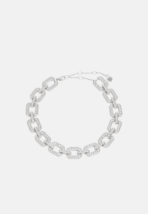 AFOMAHAR - Necklace - silver-coloured/clear multi