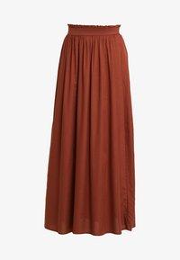 Pleated skirt - henna