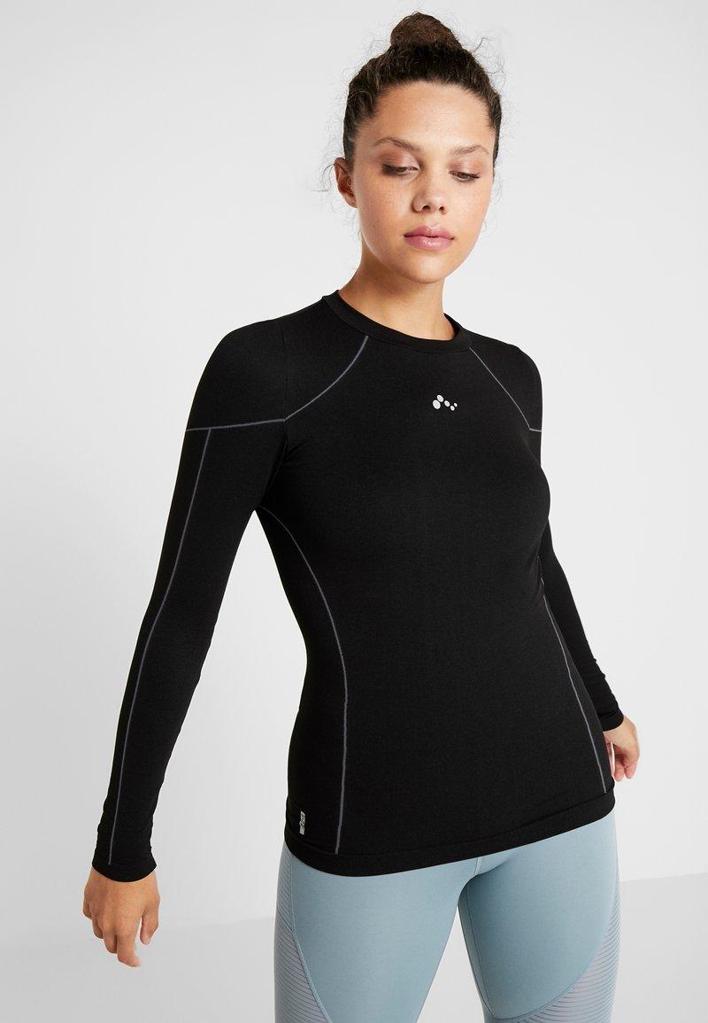 ONLY Play - ONPHUSH RUN CIRCULAR TEE - Koszulka sportowa - black