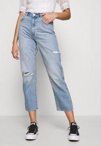 Abrand Jeans - VENICE STRAIGHT - Straight leg jeans - destroyed denim - 0