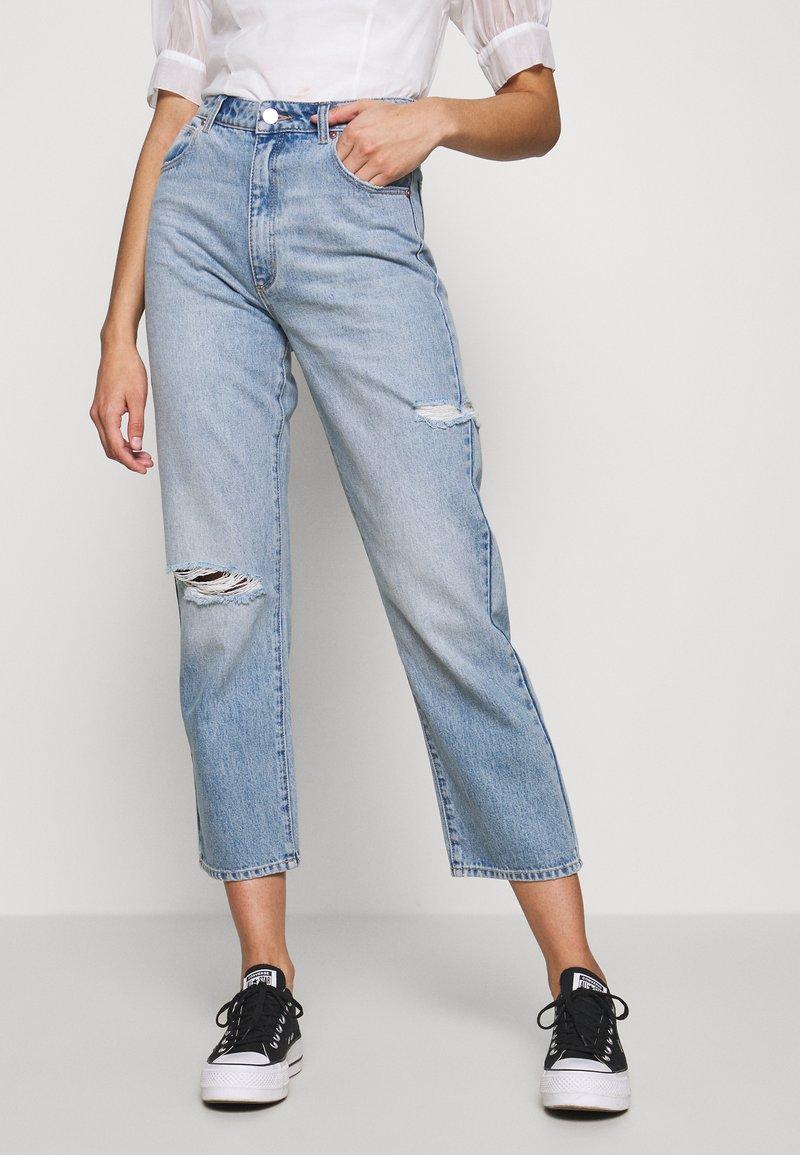 Abrand Jeans - VENICE STRAIGHT - Straight leg jeans - destroyed denim