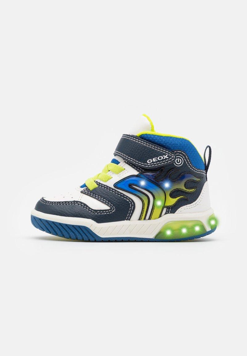 Geox - INEK BOY - Sneakersy wysokie - white/navy