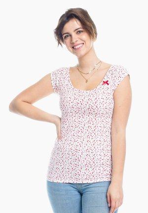 Basic T-shirt - white cherry