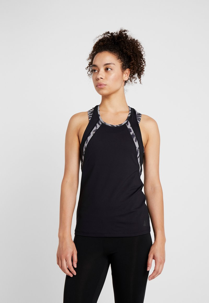 Curare Yogawear - TANK CUFFS - Top - black