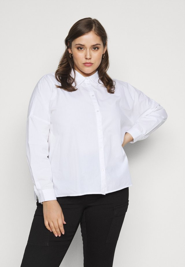 PCREMEY  - Button-down blouse - bright white