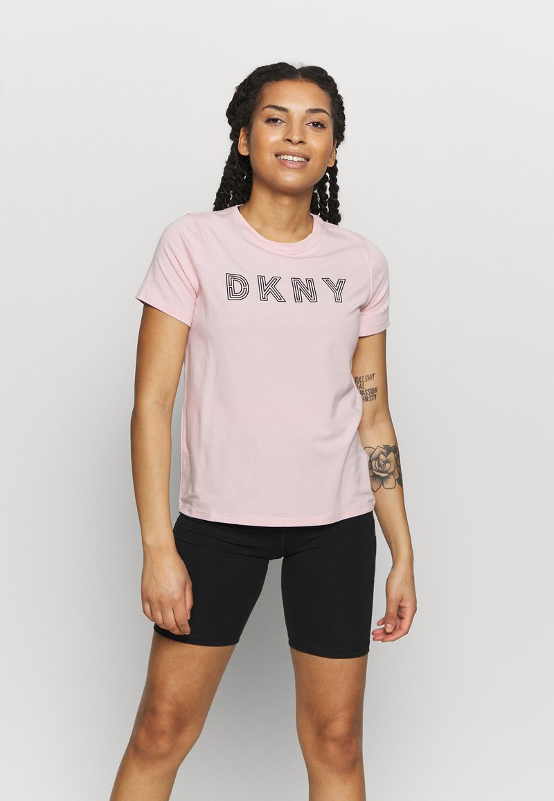 DKNY - TRACK LOGO - Print T-shirt - rosewater