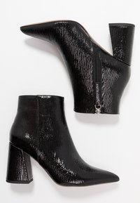 Topshop - HACKNEY POINT - High heeled ankle boots - black - 3