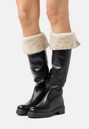 BARBER - Platåstøvler - black