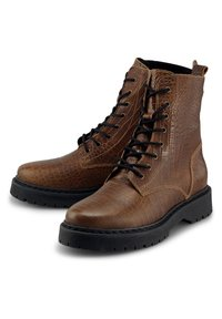 Another A - PLATEAU - Lace-up ankle boots - mittelbraun - 1