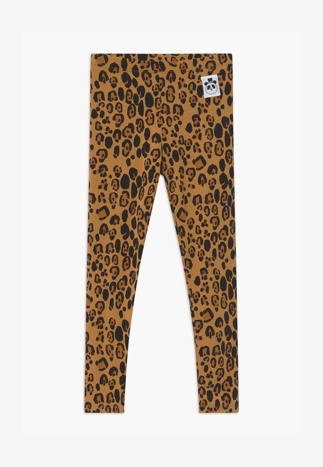 BABY BASIC LEOPARD UNISEX - Leggings - Trousers - beige