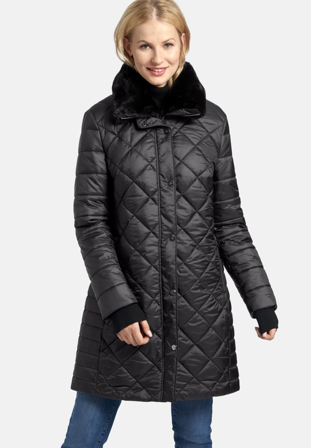 MIT RAUTEN-STEPPUNG - Winter coat - dunkelgrau
