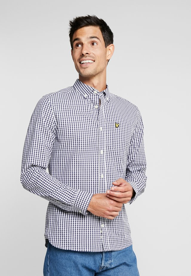 SLIM FIT GINGHAM  - Košile - navy