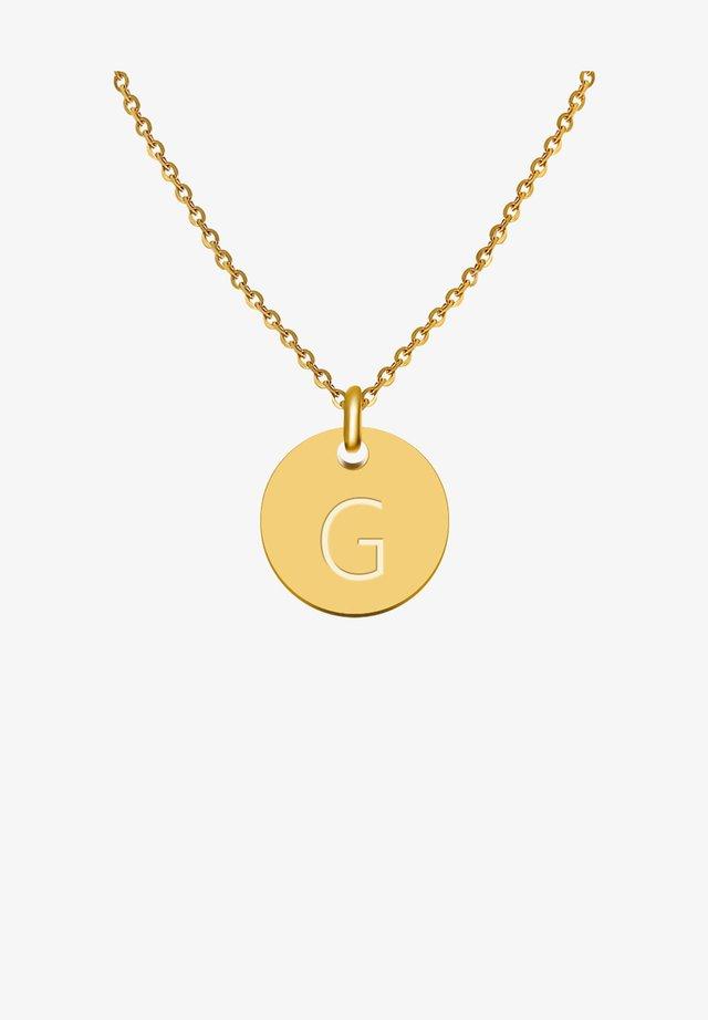 BUCHSTABE G - Necklace - gold
