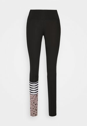 LEGGINGS SURF STYLE DOTS  - Tights - black