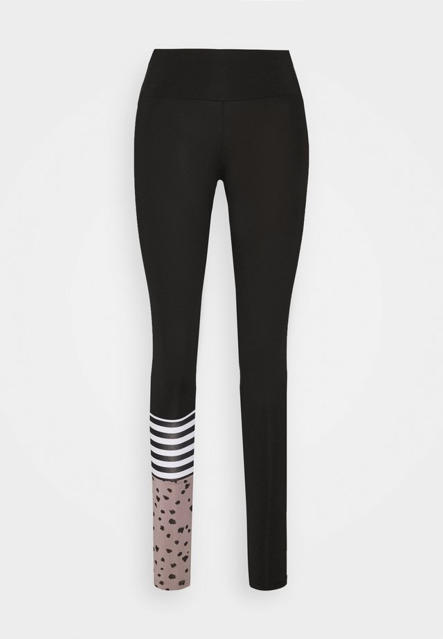 LEGGINGS SURF STYLE DOTS  - Trikoot - black
