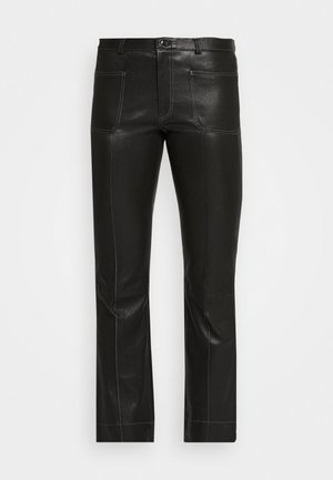 ESTELLE - Leather trousers - black