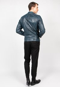 Freaky Nation - BLUERACY - Leather jacket - true navy - 3