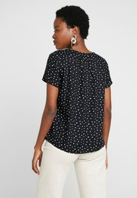 TOM TAILOR - BLOUSE WITH NECK - Blouse - black/white - 2