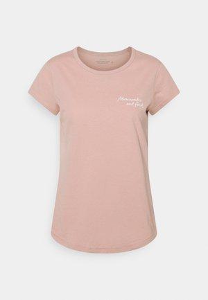 SHORT SLEEVE LOGO TEE - T-shirt z nadrukiem - pale mauve