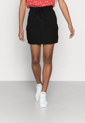 VMEVA SHORT SKIRT - Minifalda - black