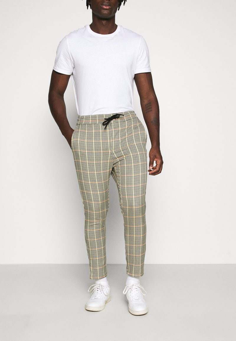 Only & Sons - ONSLINUS CROPPED CHECK PANT - Pantaloni - wind chime