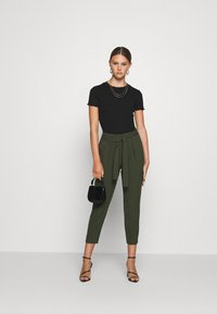 ONLY - ONLNICOLE PAPERBAG  - Trousers - forest night - 1