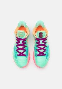 Nike Performance - KYRIE LOW 4 - Basketball shoes - green glow/atomic orange/red plum/metallic gold/sunset pulse - 3