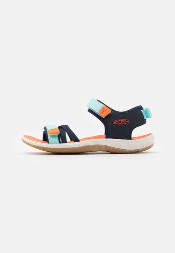 VERANO UNISEX - Walking sandals - black iris/blue tint