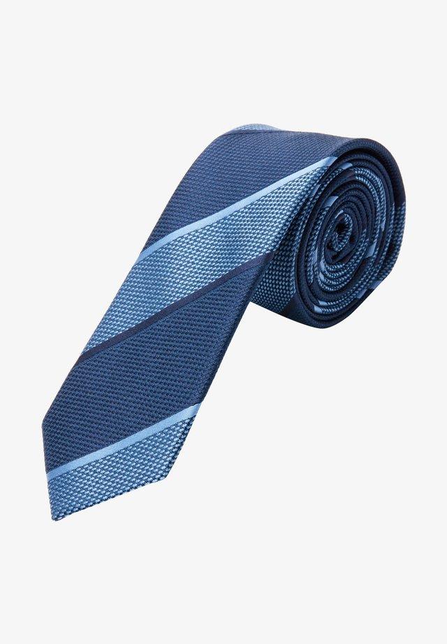 Tie - dark blue stripes