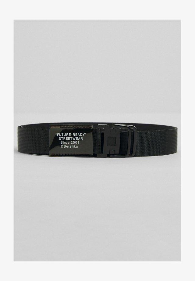 Cintura intrecciata - black