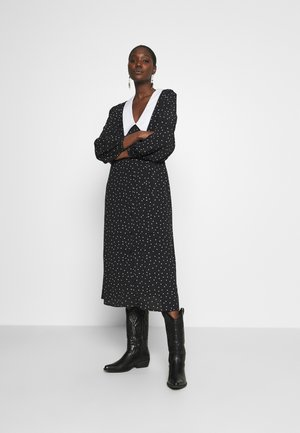 KATLA DRESS - Shirt dress - black/white