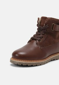 Friboo - LEATHER - Lace-up ankle boots - dark brown - 4