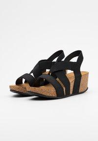 Copenhagen Shoes - STACIA - Sandalias con plataforma - black - 2
