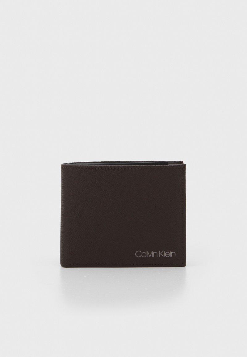 Calvin Klein - BIFOLD COIN - Plånbok - dark brown