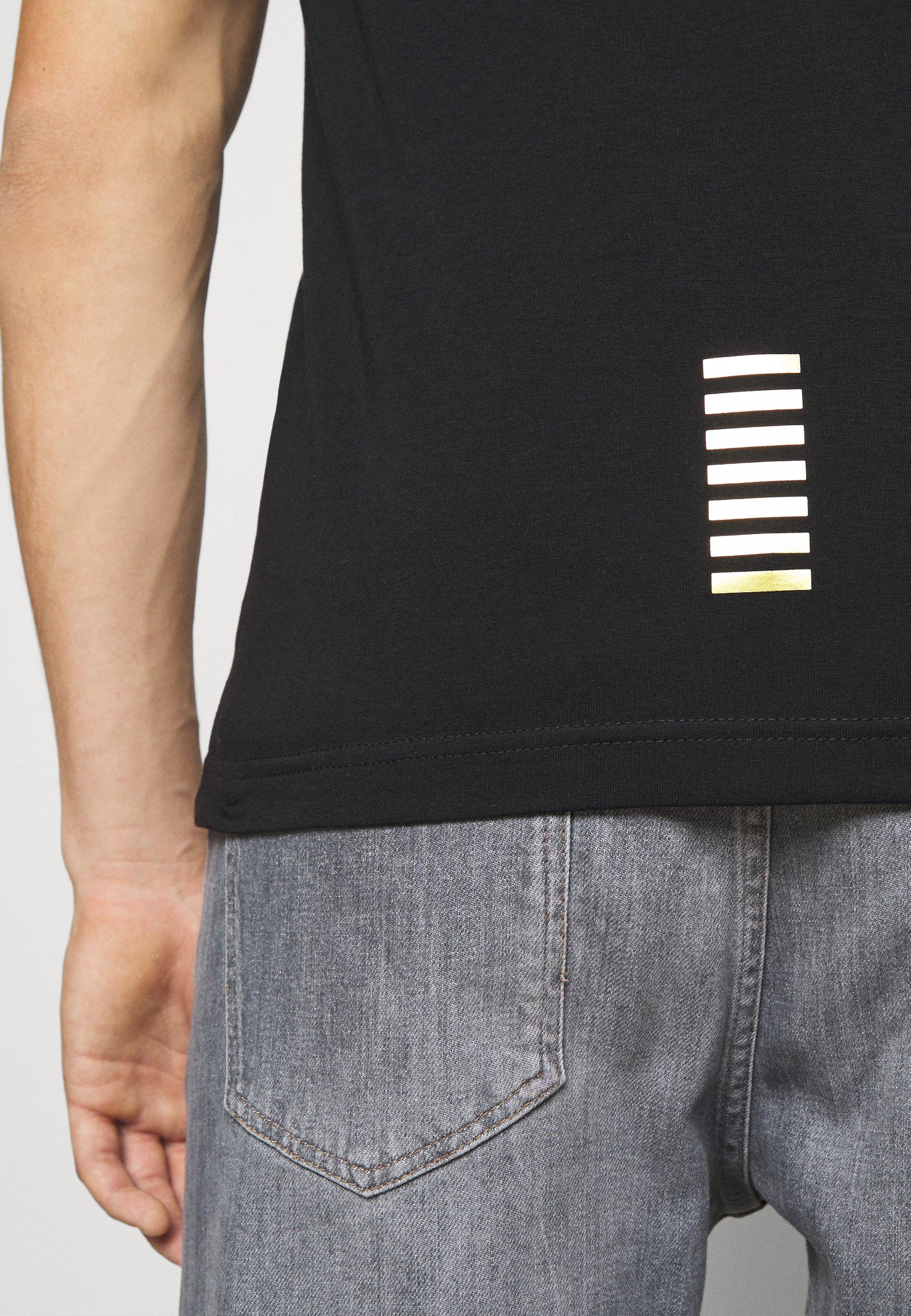 EA7 Emporio Armani Print T-shirt - black WArAp