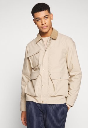 LIGHTWEIGHT WORKED JACKET - Summer jacket - mushroom