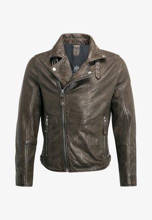 UNISEX MAVRIC  - Leather jacket - oliv
