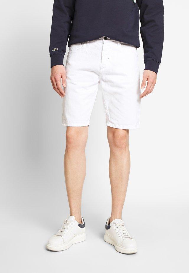 SLIM ARGON - Jeansshorts - white